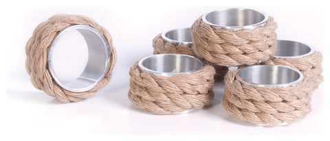 Set of Six Coastal Napkin Rings