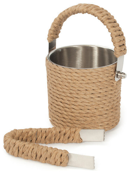 Roped Ice Bucket & Tongs