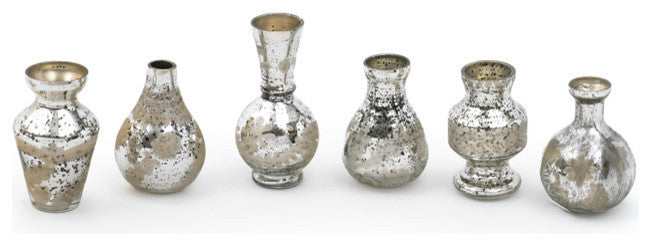 Mercury Mini Bud Vases, Set of 6