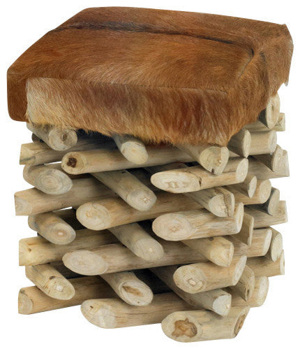Log Cabin Stool