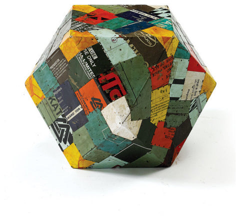 Go Home Tin Patchwork Rubix Stool