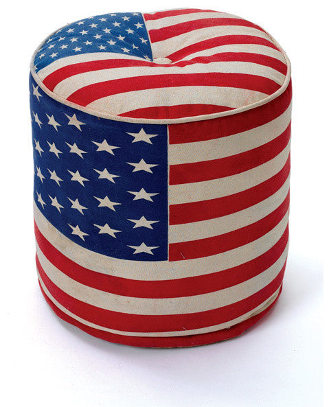 Go Home Round Anthem Pouf