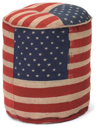 Stars & Stripes Pouf-Round