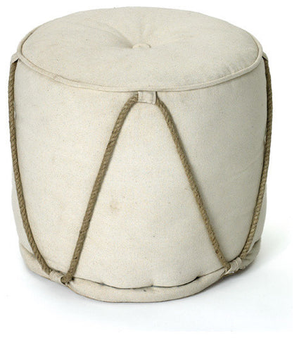 Go Home Off White Pouf