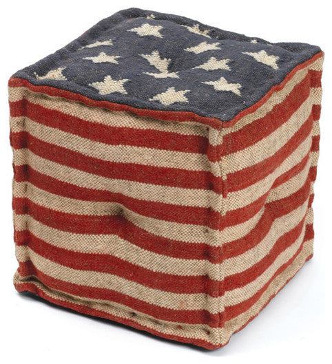 Star Spangled Pouf