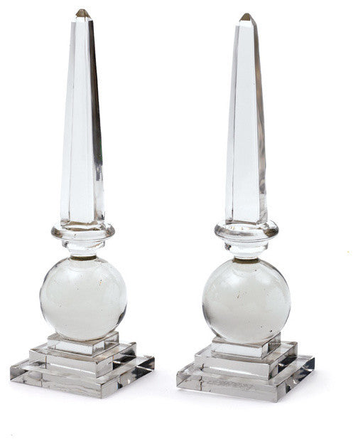 Go Home Cleopatra Obelisks, Set of 2