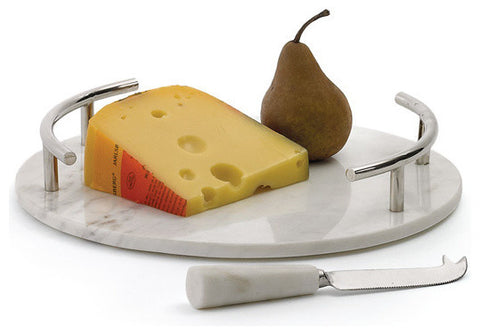 Round Cheeseboard With Knife