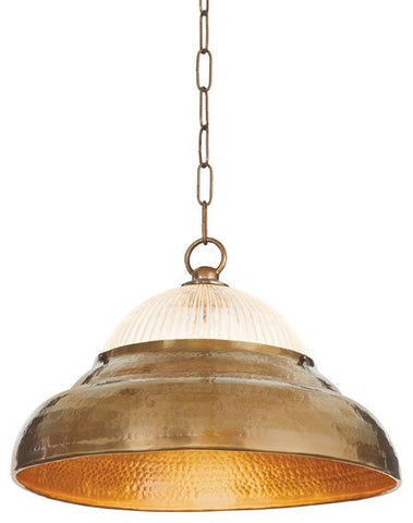 Go Home Brass & Glass Hanging Light