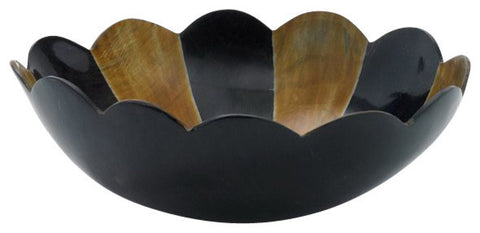 Scalloped Edge Horn Bowl