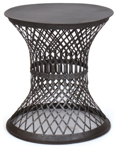 Iron Lattice Side Table