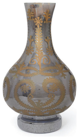 Alexia Black and Gold Mercury Vase