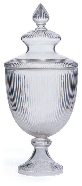 Hans Ribbed Cut Jar With Lid