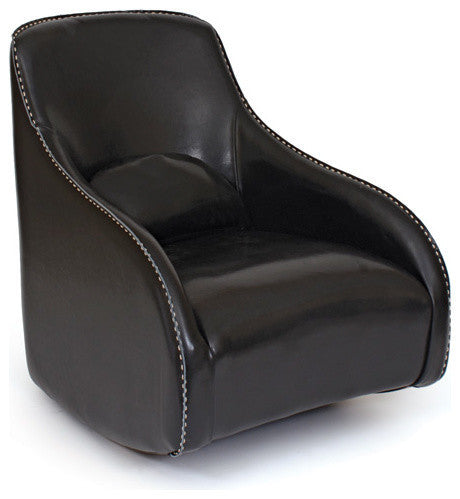 Go Home Black Contemporary Style Leather Chair