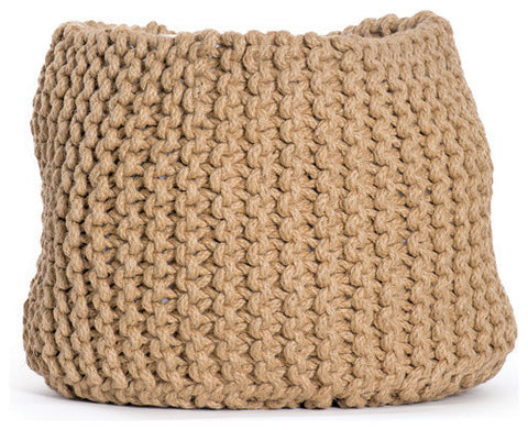 Knit Jute Basket
