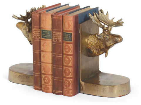 Pair Of Moose Bookends