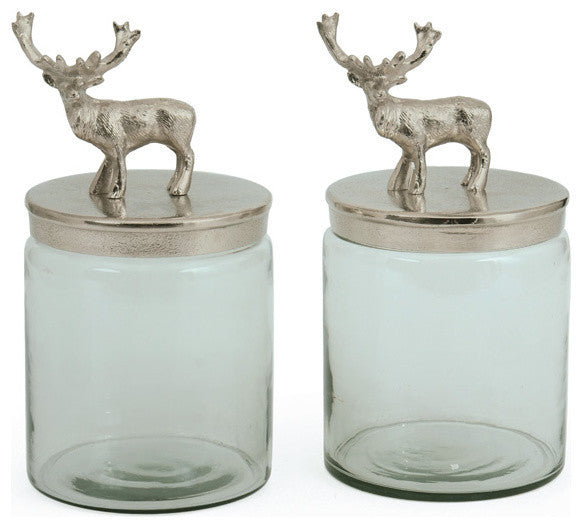 Pair Of Bambee Jars
