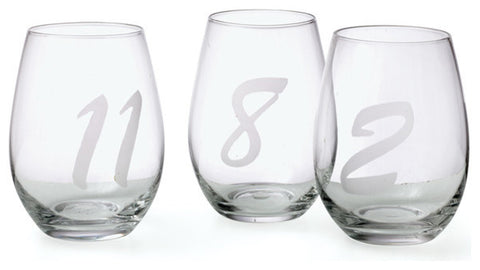 Set Of 12 Noir Wine Glasses
