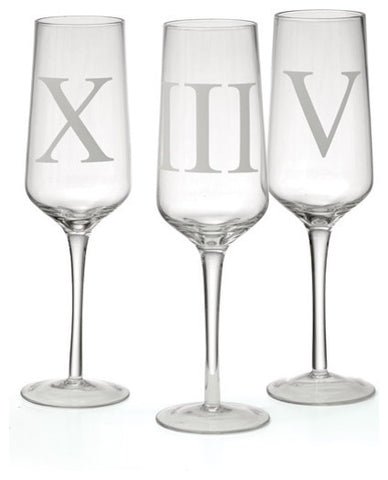 Set Of 12 Upton Champagne Flutes