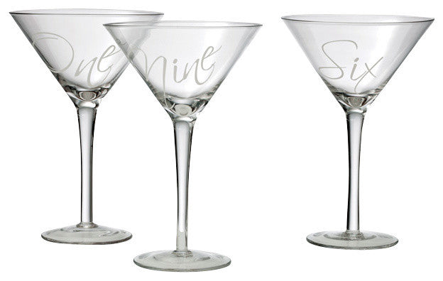 Set of 12 Martinez Martini Glasses - Gift Packaging Included