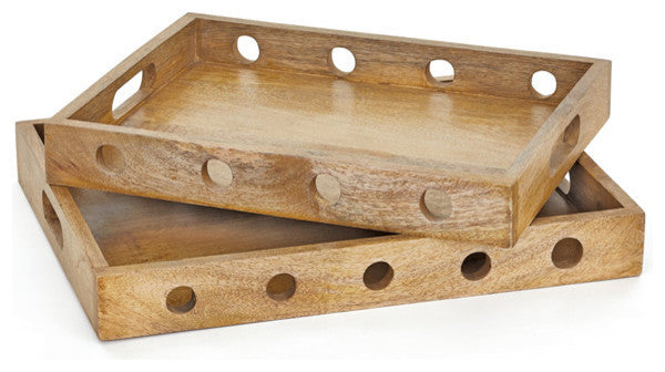Set of Two Sorriso Trays