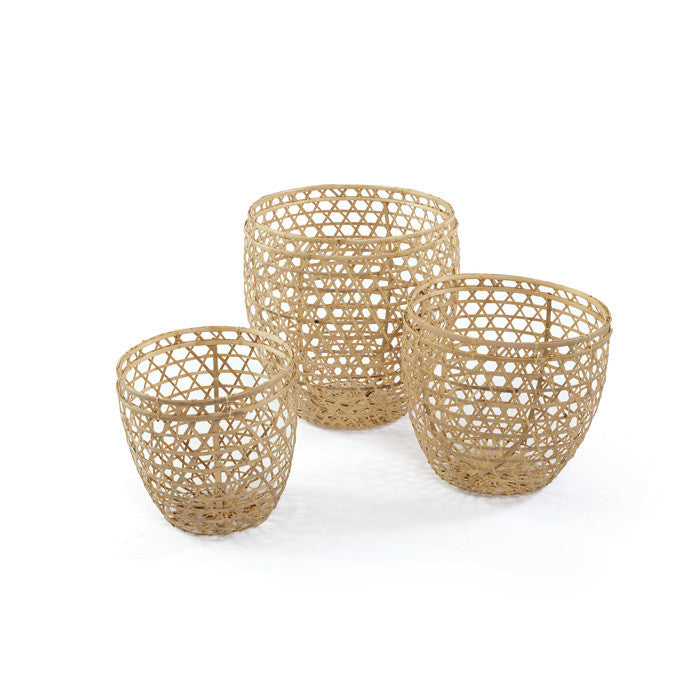 Set of Three Partridge Baskets