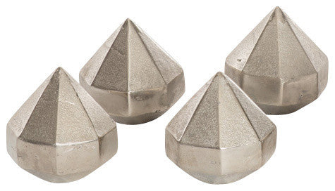 Set Of Four Diamond Paperweights