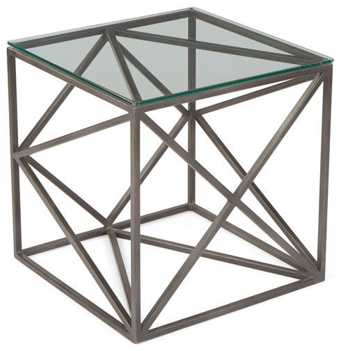 Hanover Glass Side Table