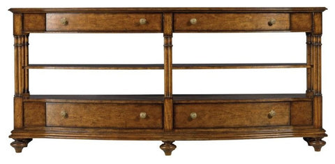 Arrondissement Reverie Panel Bedond Media Console, Heirloom Cherry