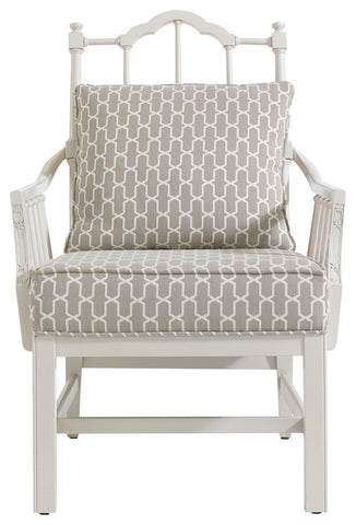 Charleston Regency Chippendale Planter's Chair, Ropemaker's White