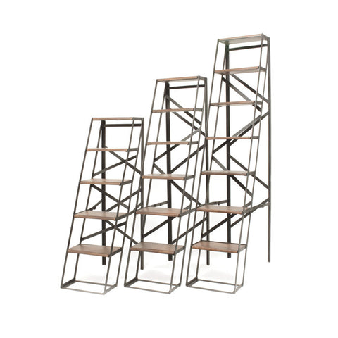 5' Iron & Wood Ladder