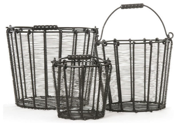 Set of Three Wire Baskets