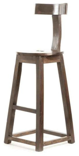 "30"" Rustic Wooden Barstool"