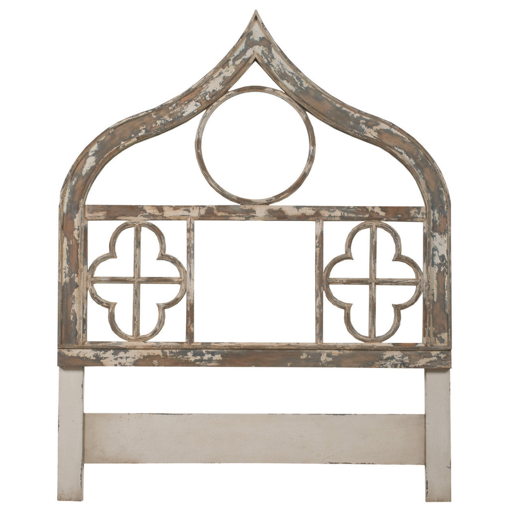 Antique French Country Gothic Headboard