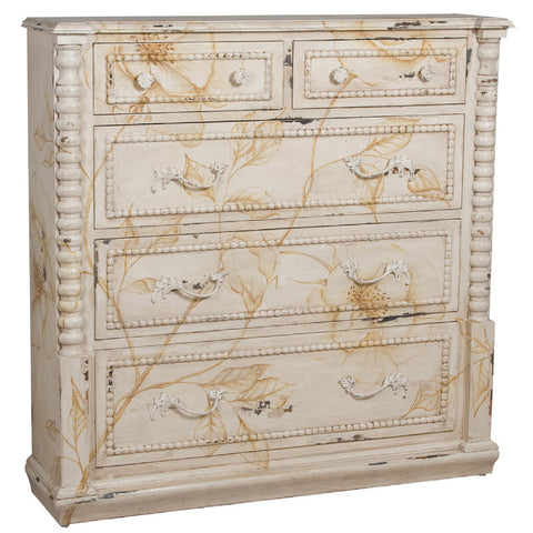 Antique French Tall Wall Chest