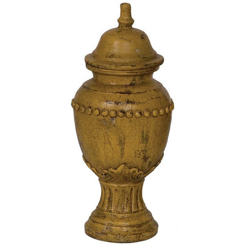Antique Painted Terra Cotta Urn