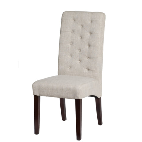 Birch Linen Side Chair - Light Cream