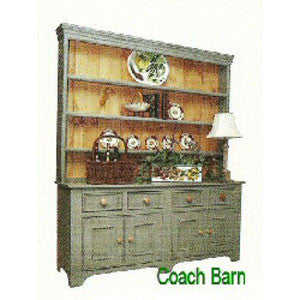 British Traditions 7 Ft. Hutch Antique White Premium Distress