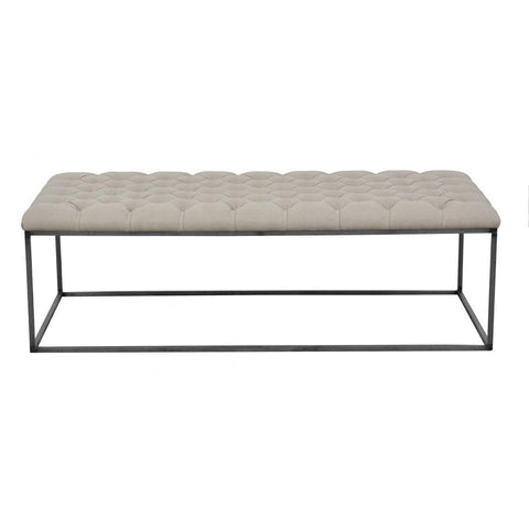Classic Coffee Table With Upholstered Top