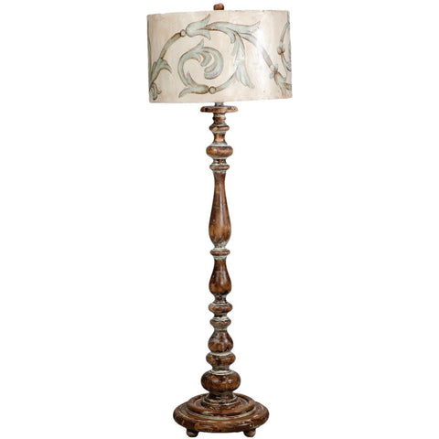 Distressed French Baluster Floor Lamp
