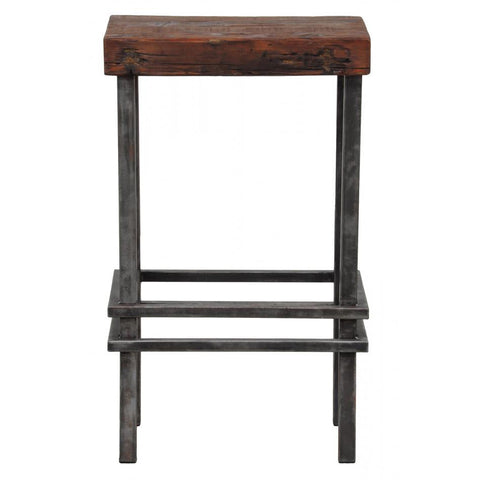 Distressed Wood Barstool