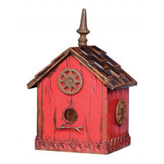 Distressed Wood Bird House