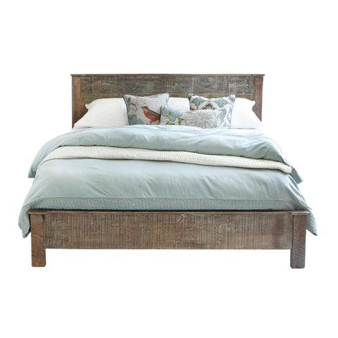 Distressed Wood Cal King Bed