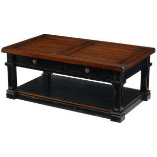 Distressed Wooden Top Coffee Table