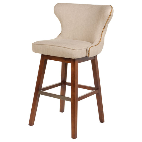 Elegant Swivel Barstool In Hyde Clay Finish