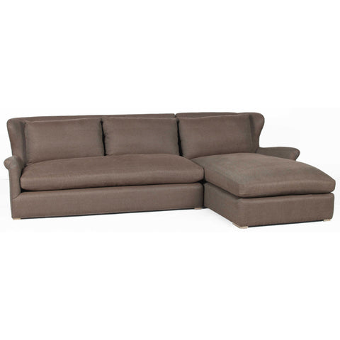 Elsy Beige Linen Sofa with Left Arm Chais