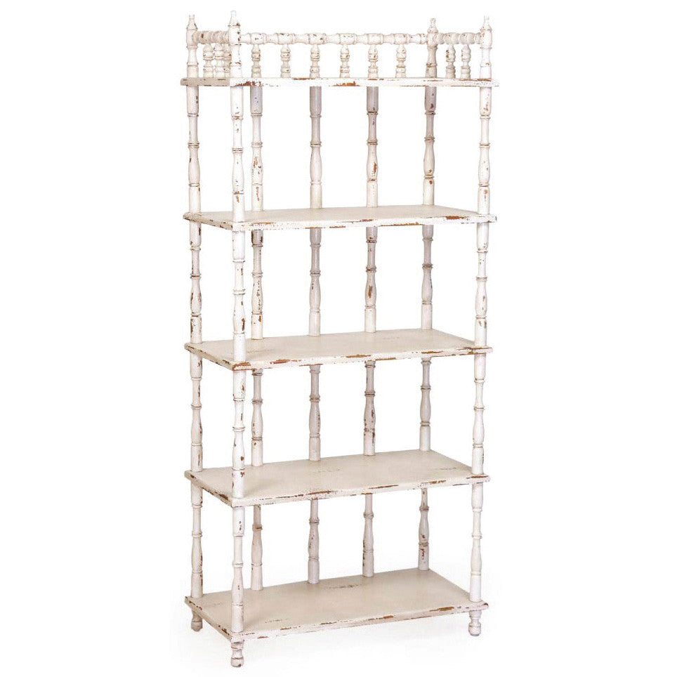 European Country Chic Tall Spindle Shelf