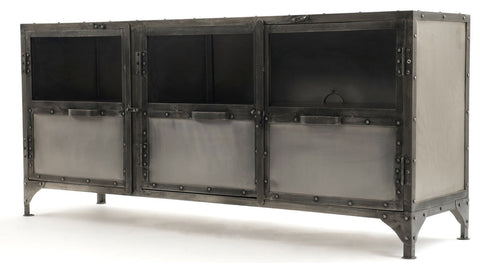 3 Door Metal LCD TV Stand