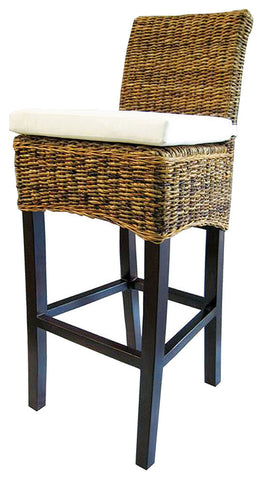 Banana Leaf Barstool with Cushion