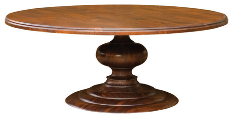 "76 "" Solid Mango Wood Round Dining Table"