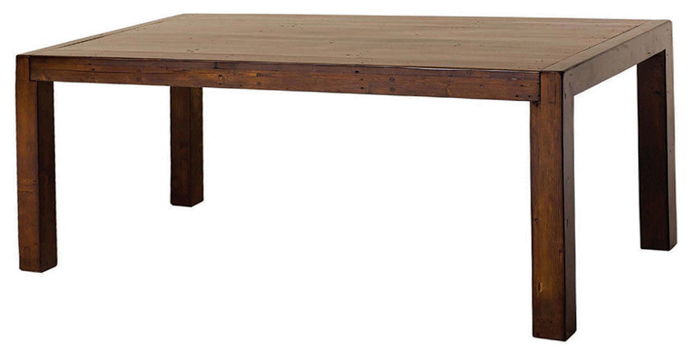 Rustic 71-Inch Rectangular Dining Table in Eco Friendly Solid Wood
